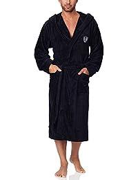 L L Robe de Chambre à Capuche Veste d Intérieur Homme LL0042 3a5a2ea37c56