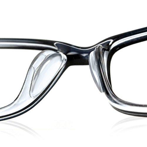 Ewin24 10pcs 2.5mm gafas Sunglass Gafas Gafas antideslizante de silicona suave palo en almohadillas de nariz (transparente)