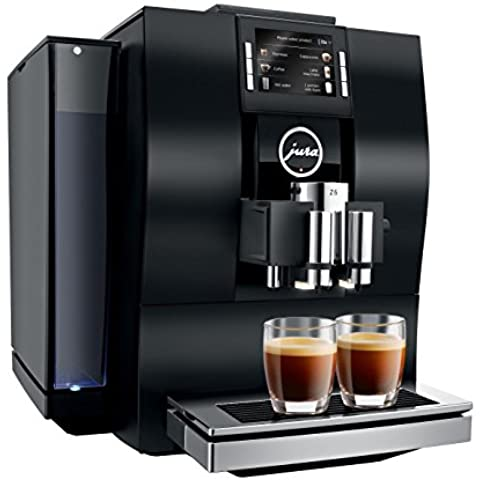 Jura Z6 Espresso machine 2.4L Aluminio, Negro - Cafetera (Independiente, Totalmente automática, Espresso machine, De café molido, Aluminio, Negro, Giratorio)