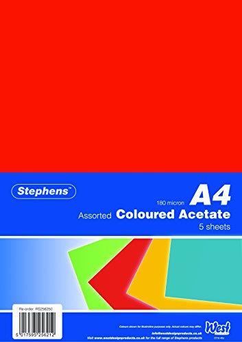 Stephens RS256250 Farbfolie, 5 Kopfleistenbeutel a 5 Blatt, 5 Folien, verschiedenen farben