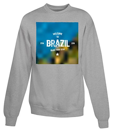 Billion Group | Welcome To Brazil | City Collection | Women's Unisex Sweatshirt Gris