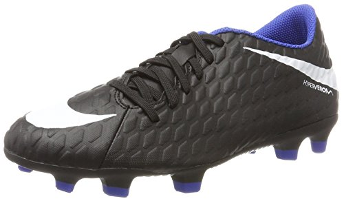 Nike Herren Hypervenom Phade III FG Fußballschuhe, Schwarz (Black Game Royal), 44 EU