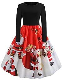 Eine Linie K/ürbis Schaukel Kleid Weihnachten Halloween Party Kleid Damen Vintage Print Halfter Halloween Abend Party Swing Kleid K/ürbis Print Kleid Rundhals Rei/ßverschluss Hepburn Partykleid
