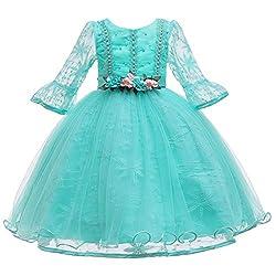 Yanhoo Karneval Cosplay Kleinkind Kind Mädchen Lace Longsleeve Prinzessin Kleid Party Tüll Kleidung Kinder Kostüm Festlich Festkleid Maxikleid Geburtstagsfeier