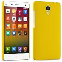 Prevoa ® 丨Original Colorful Hard Plastic Cover Funda Para Xiaomi 4 M4 Mi4 Smartphone - Amarillo