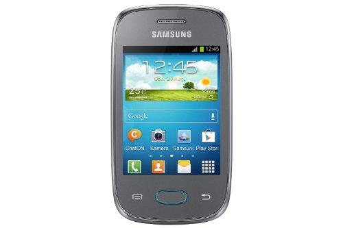 Samsung Galaxy Pocket Neo S5310 Smartphone (7,6 cm (3 Zoll) Touchscreen, 850MHz, 512MB RAM, 2 Megapixel Kamera, Android 4.1) metallic-silber (Pocket Samsung Handy)