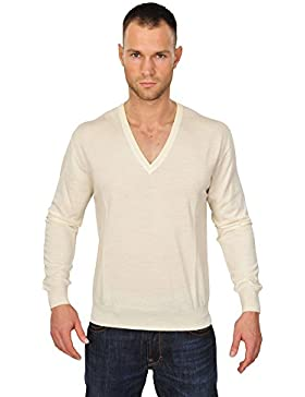 Brioni Suéter Hombre Marfil normal lana casual 56