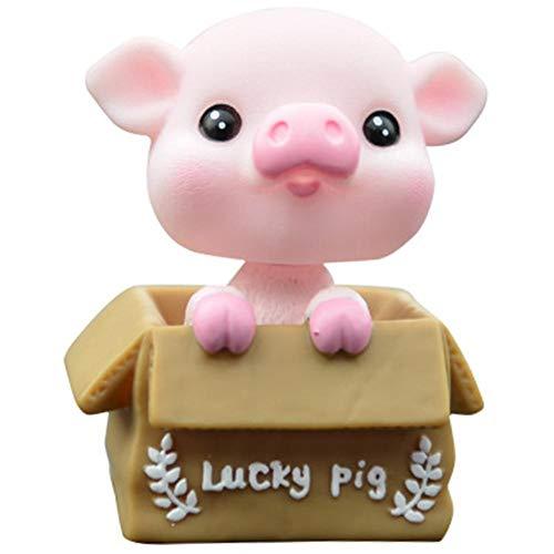 Auto-glückliches Schwein, Das Hauptschwein-netten Schmuck-Innendekoration-Familien-Schreibtisch Rüttelt