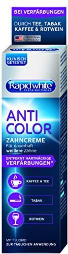 Rapid White Anti Color Toothpaste, Whitening-Zahnpasta für weißere Zähne, Zahnaufhellung für Zuhause, ohne Wasserstoffperoxid