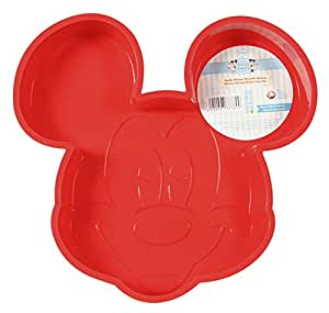 Unbranded 8010274 Mickey Bakery Moule en Silicone Rouge 27 x 26,3 x 5,2 cm
