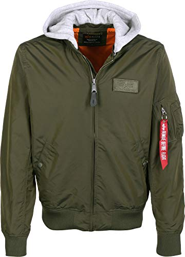 Alpha Industries MA-1 TT Hood Bomberjacke Dark Green - Ma-1-pilot