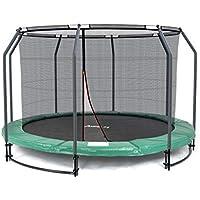Preisvergleich für Ampel 24 Deluxe Ground Trampolin 305 cm komplett mit innenliegendem Netz, Sicherheitsnetz mit Stabilitätsring & 8 Stangen, für Kinder bis 35 kg