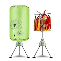 Double Clothes Dryer Machine Round 3D Spiral Heating 180min Adjustable Timing Folding Hanger Dryer