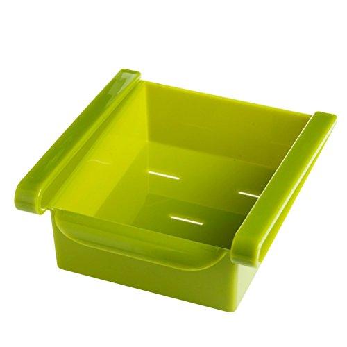 BESTONZON Kühlschrank Vorratsbehälter Box Kühlschrank Organisation Space Saver Gefrierfach Schubladenregal Regalhalter Kühlschrank Organizer (Grün) (Lagerbehälter Organisation)