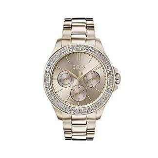Hugo Boss Watch Reloj Multiesfera para Mujer de Cuarzo con Correa en Oro Rosa 1502443
