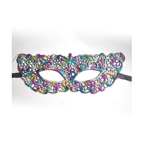 P-WH Hohlaugenmaske Stil Spitze Maskerade Maske Halloween Kostüm Ball Phantasie Bars (Color : - Weibliche Jester Kostüm