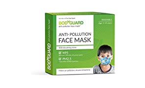 Bodyguard Anti Pollution Face Mask (Black) - Set of 1