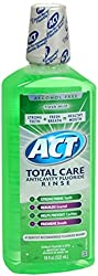 ACT Total CARE Anticavity Fluoride Rinse Fresh Mint 18 oz (Pack of 2)