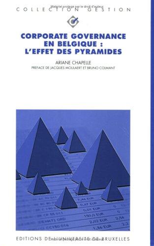 Corporate Governance en Belgique : l'effet des pyramides