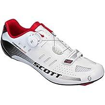 Scott Road Team Boa per bici da corsa scarpe argento/nero 2015, Uomo, white/black gloss