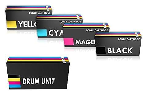 COMBO PACK - Compatible Q3960-3A (UN ENSEMBLE) Cartouches de Toner & Q3964A Kit Tambour pour HP Impr