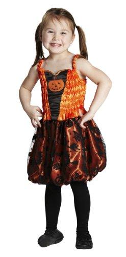 Jack Lantern O Kostüm Kind - Halloween Kinder Kostüm kleiner Kürbis Jack O'Lantern Kleid Gr.140
