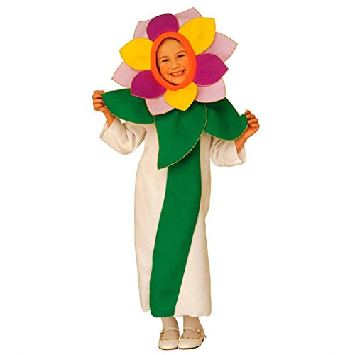 Blumenkind Kinder Kostüm - NET TOYS Blümchen Kostüm Blumen Kinderkostüm 110 cm Blumenmädchen Faschingskostüm Blüte Mädchenkostüm Blumenkind Kleid Flower Kinder Karnevalskostüm