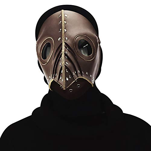YWJ Plague Doctor Mask -Retro Rock Die Halloween-Party-Maske von Plague Doctor Bird,2