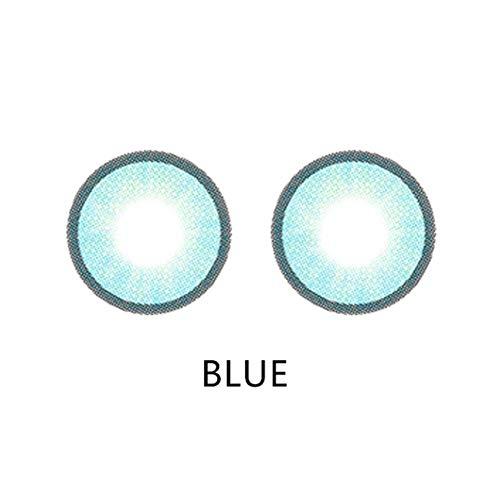 (2PCS Mehrfarbig Farbige Weiche kosmetische Kontaktlinsen Halloween Cosplay Große Augen Hübscher Barbie Mädchen Stil Kontaktlinsen Großes Auge)
