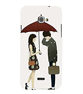 LOVERS Designer Back Case Cover for Infocus Bingo 50