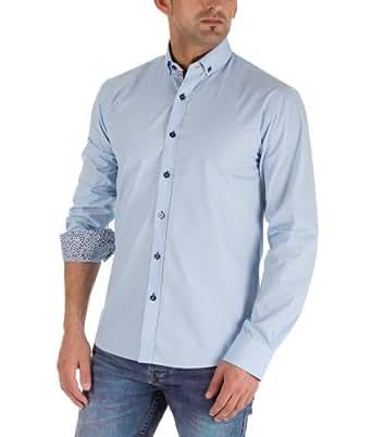 Selected Homme Herren Langarmhemd Hemd by Selected Jeans 2012 Star MOD 8098 blau D.G