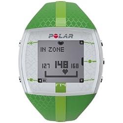 Polar FT4 - Reloj con pulsómetro e indicador de calorías consumidas para fitness y cross-training, color verde