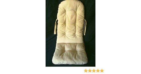 Sedia a dondolo in rattano Rattan im Trend produzione tedesca 120 x 50 cm