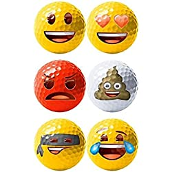 Emoji Oficial Diseño Divertido Pelotas de Golf, Diseño Divertido nbsp;–6Pack