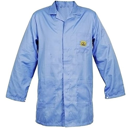 SCHOFIC ANTI-STATIC [ESD] SAFE Unisex Apron / Lab Coat / Jackets [Medium] - Blue