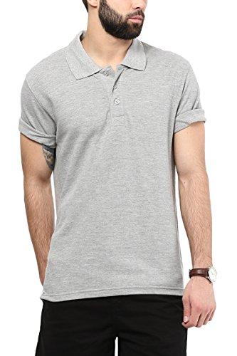 American Crew Polo Collar Grey Melange T-Shirt - M (AC335-M)