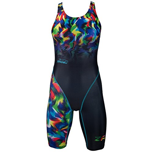 ZAOSU Wettkampf-Schwimmanzug Z-Rainbow für Mädchen und Frauen, Größe:164