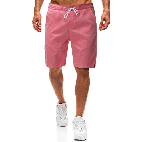 Makefortune  Mens Cotton Casual Shorts Classic Fit Summer New Men Chino Shorts Combat Half Cargo Pants Overalls with Pockets and Drawstring Drawstring Jersey Sweatshirt