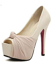 SHOWHOW Damen Low-Top Blockabsatz High Heel Pointed Toe Pumps