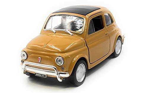 Onlineworld2013 Auto Modello Fiat Nuova 500 1957-1975 Auto d'Epoca Colore Casuale! Scala Automatica 1: 34-39 (con Licenza)