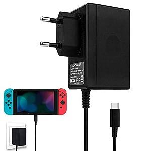 Nintendo Switch Ladegerät, Nintendo Switch Netzteil PD Typ-C Wand Reise-Ladegerät für Nintendo Switch, Arbeit mit Switch Dock Station, TV-Modus unterstützt