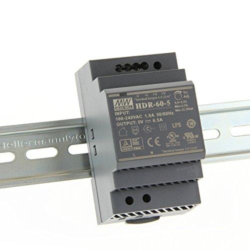 ? 5Vdc 6,5A 32,5 Watt, Mean Well HDR-60-5 DIN-Rail LED Hutschienen Netzteil