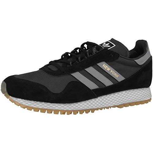 adidas New York, Chaussures de Gymnastique Homme Noir (Core Black/core Black/gum 3)