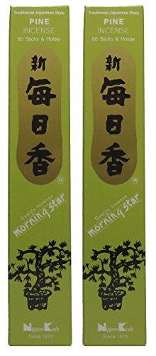 Trimontium 182 Nippon Kodo Morning Star japanische Räucherstäbchen Duopack, 2 x 50 Stück, Kiefer/Pine