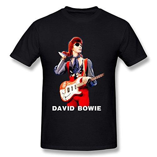 David Bowie - - Männer Aladdin Sane Big Print U-Bahn T-Shirt in Tri-Blend Xxx-large,charcoal Heather