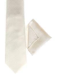 Diseño de cachemira de Londres, palo de golf para niños de color marfil corbata, palo de golf para niños de color marfil de estampado a cuadros de bolsillo para la placa de, corbata a rayas