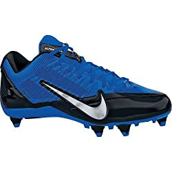 Nike Alpha Pro TD Football Cleats (12. 5, Black/Metallic Silver/Sport Royal)