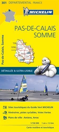 Carte Pas-de-Calais, Somme Michelin