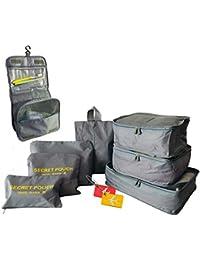 HONGCI 8 Set de Organizador de Equipaje - Organizadores de Viajes Cubos Bolsas