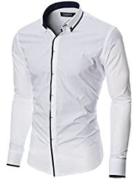 MODERNO Slim Fit Manches Longues Chemise Homme (MOD1445LS)